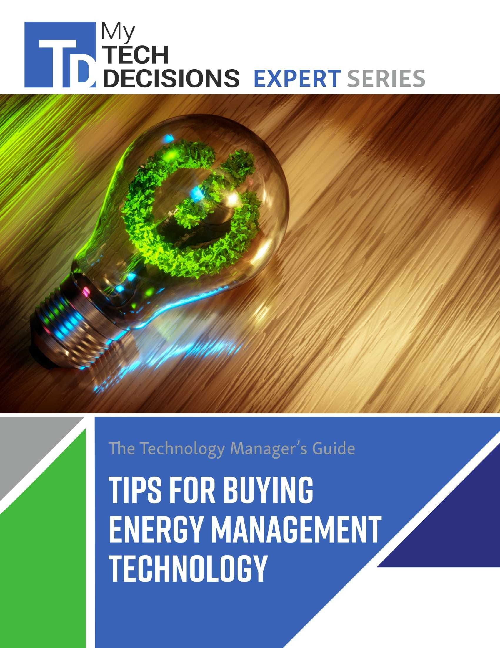 The Technology Manager's Guide: Tips for Buying Energy Management